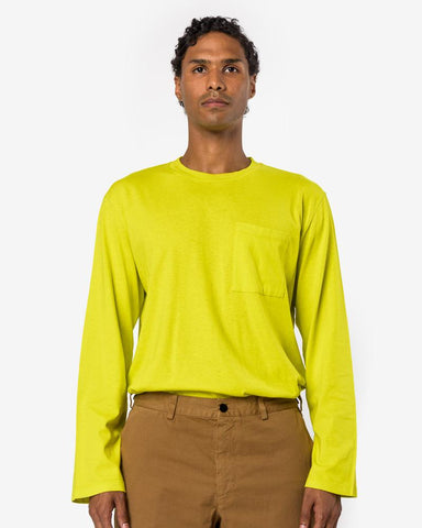 L/S Box Jersey Tee in Citron Army by Our Legacy at Mohawk General Store