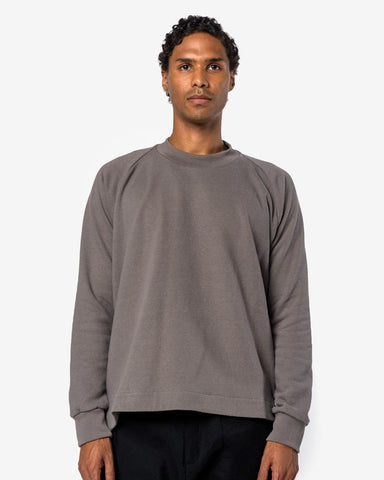 Crew Neck Sweater #29 in Light Lead by Jan Jan Van Essche at Mohawk General Store