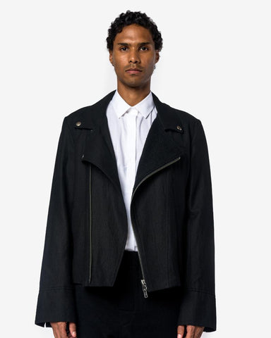 Essence Jacket in Black by Ann Demeulemeester at Mohawk General Store