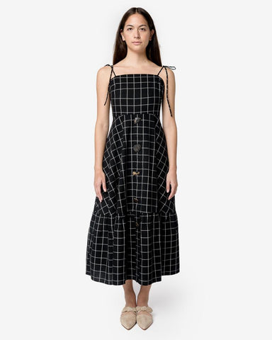 Maria Dress in Black Check