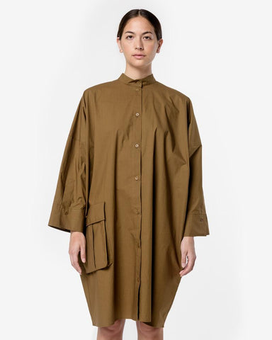 Doran Dress in Bronze Olive