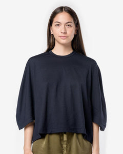 3/4 Sleeve Crop Top in Navy by Comme des Garçons Comme des Garçons at Mohawk General Store