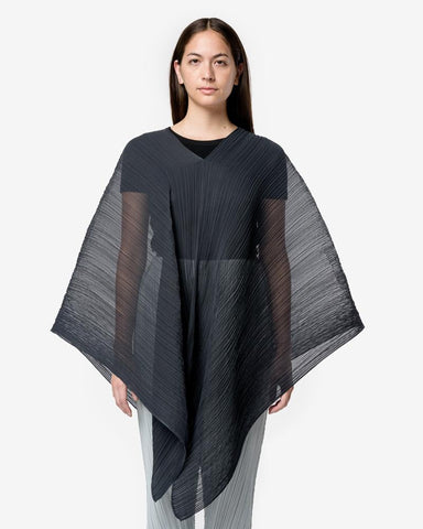 Poncho in Charcoal