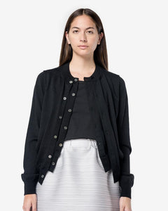 Wool Cardigan in Black