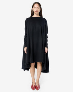 Long Oversized Sweatshirt Dress in Black