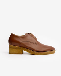 Pointed Toe Oxford in Cognac