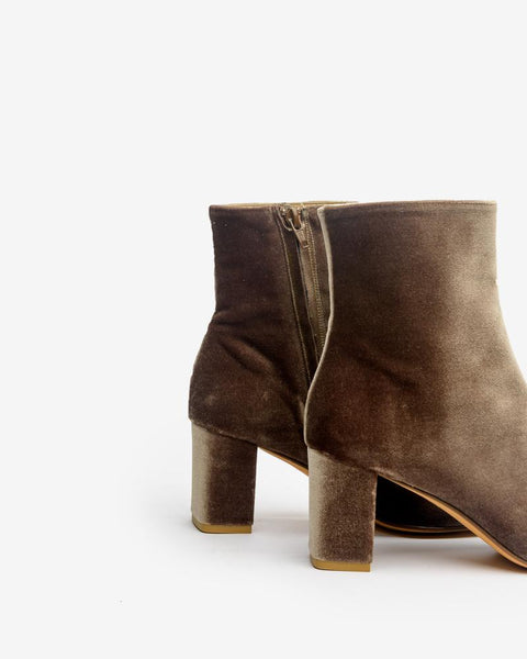 Agnes Boot in Brown Velvet by Maryam Nassir Zadeh Mohawk General Store