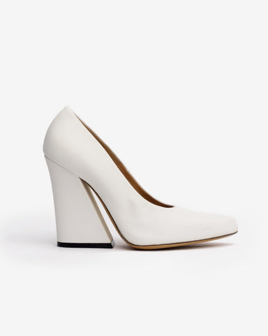 Canvas Heel in White by Dries Van Noten Woman at Mohawk General Store