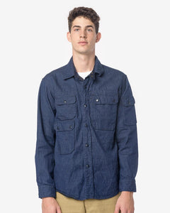 CPO Shirt in Indigo Cone Denim