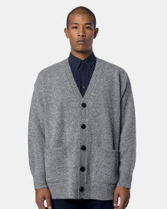 Taxes Cardigan in Light Grey by Dries Van Noten Mohawk General Store