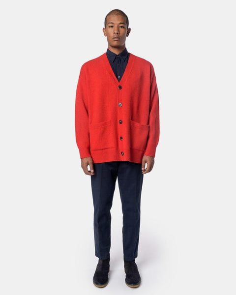 Taxes Cardigan in Red by Dries Van Noten Mohawk General Store