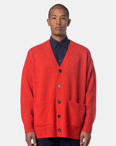Taxes Cardigan in Red by Dries Van Noten Dries Van Noten