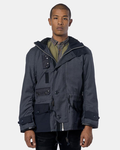 Contrast Jacket in Charcoal