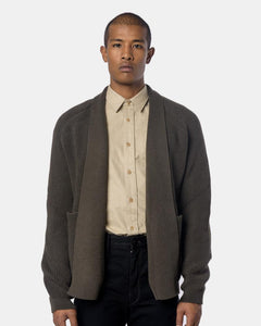 Open Cardigan in Olive Grey by Lemaire Mohawk General sStore