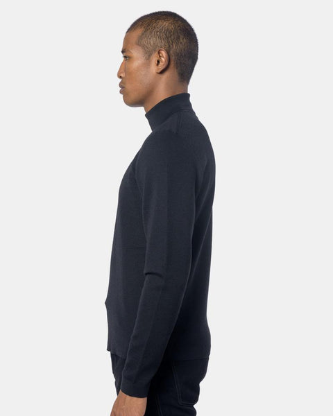 Light Turtleneck in Black by Lemaire Mohawk General Store