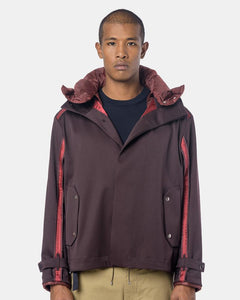 Reverse Seam Blouson in Burgundy