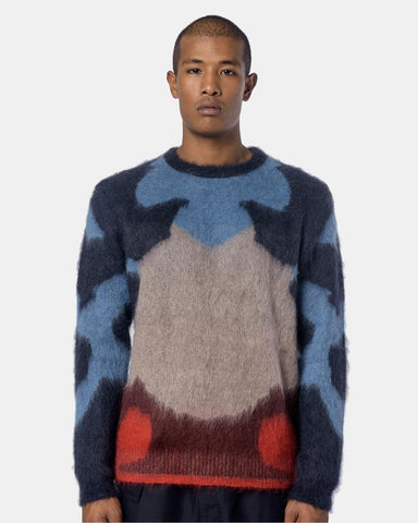 Moth Alpaca Sweater in Blue