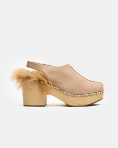 Phair Platform Clogs in Beige
