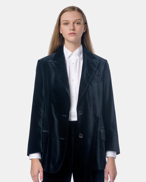 Barrow Jacket in Navy by Dries Van Noten Woman at Mohawk General Store