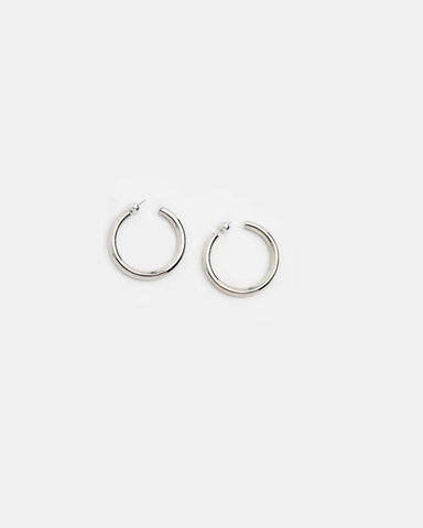 Medium Everyday Hoops in Sterling Silver by Sophie Buhai Mohawk General Store