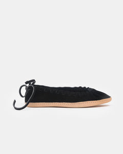 Hopi Moccasins in Black Suede