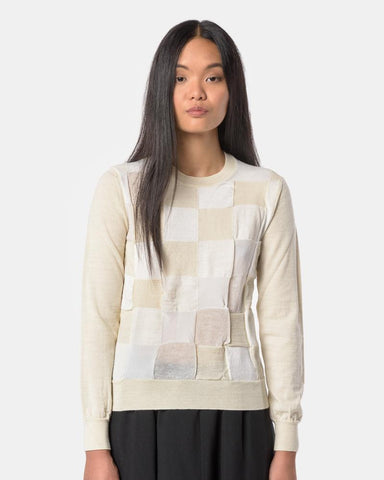 Block Sweater in Cream