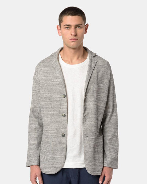 Nicola Knit Blazer in Light Grey