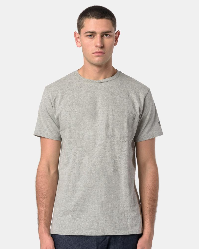 Printed Cross Crew Neck T-Shirt in Grey