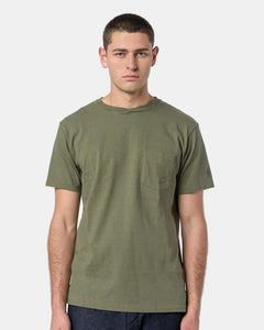 Printed Cross Crew Neck T-Shirt in Olive