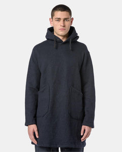 Long Hoody in Dark Navy