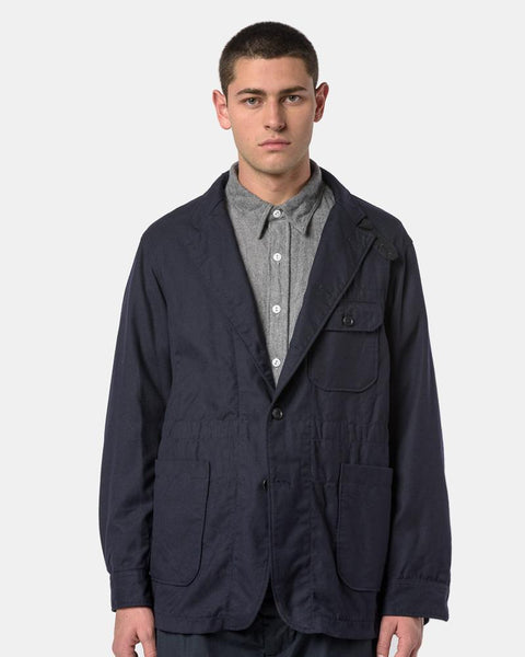 Benson Jacket in Dark Navy Uniform Serge by Engineered Garments at Mohawk General Store