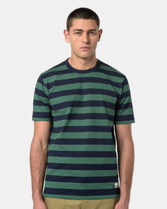 T-shirt in Green and Blue Stripe