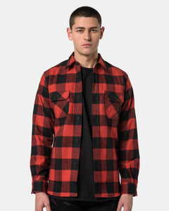 Flannel Shirt in Plaid Red