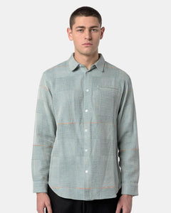 Babu Collared Shirt in Indigo Green by Neuba at Mohawk General Store