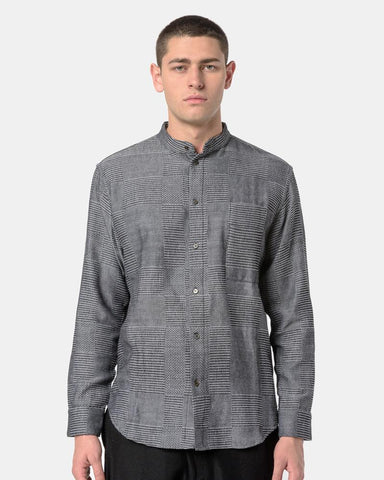 Babu Strand Collar Shirt in Dark Grey by Neuba at Mohawk General Store