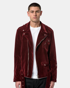 Velvet Perfecto Biker Jacket in Bordeaux