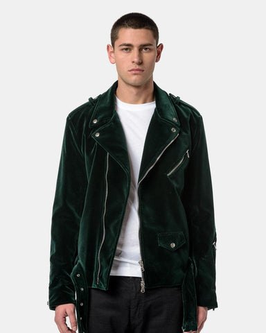 Velvet Perfecto Biker Jacket in Green