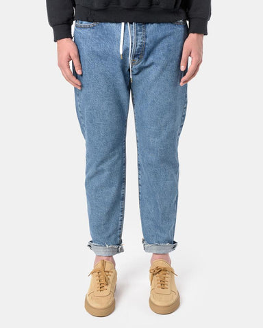 M.G.S. 90's Silhouette Denim Pants in Stonewash