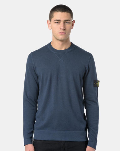 Crewneck Sweater in Navy