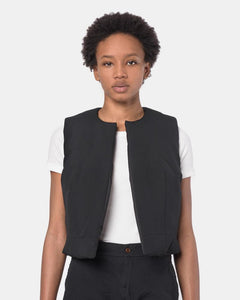 Puff Vest in Black