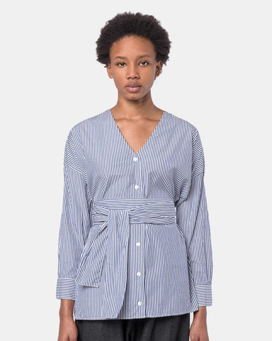Koto Shirt in Blue Stripe