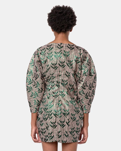 Aruba Dress in Green and Old Rose by Samuji at Mohawk General Store