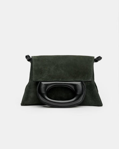Folded Bag in Midnight Green