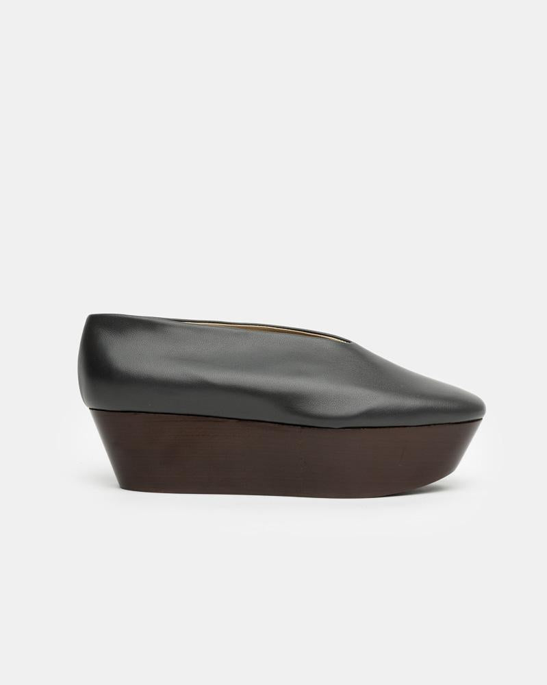 Wedge Slippers in Anthracite