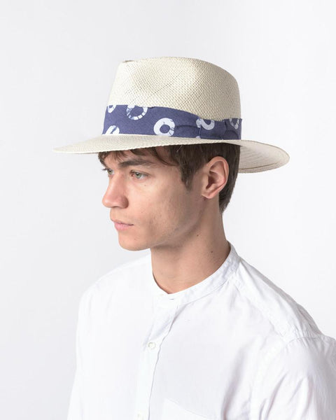 Panama Hat with Indigo Ribbon by Post Imperial at Mohawk General Store - 5