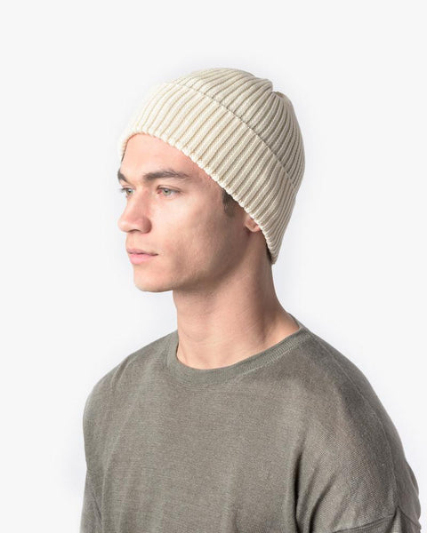Washi Beanie in White by SMOCK Man at Mohawk General Store - 3