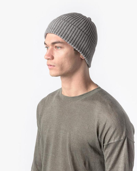 Washi Beanie in Grey by SMOCK Man at Mohawk General Store - 3