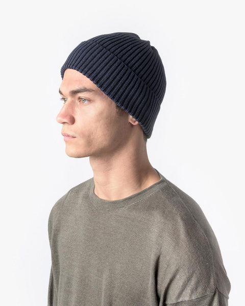 Washi Beanie in Navy by SMOCK Man at Mohawk General Store - 3