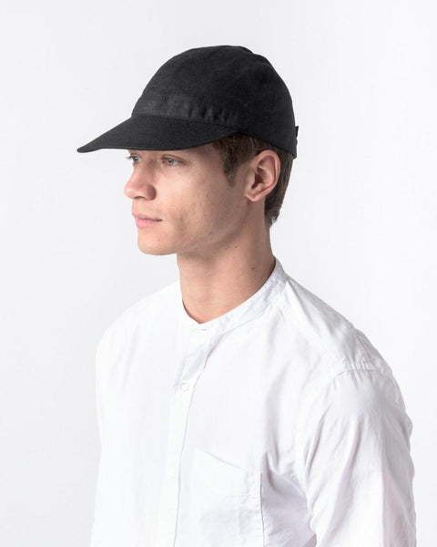 Linen Scout Cap in Black by SMOCK Man at Mohawk General Store - 5
