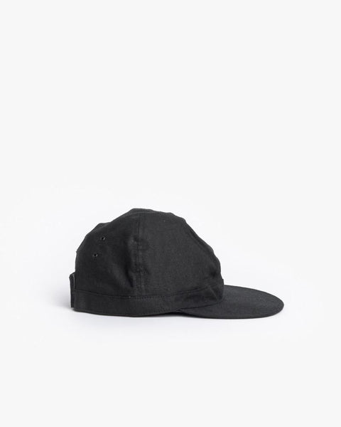 Linen Scout Cap in Black by SMOCK Man at Mohawk General Store - 3